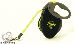 Flexi - Giant Neon L автоматичен повод за куче до 50 кг, лента 8 метра