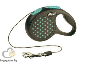 Flexi - Dots S автоматичен повод за куче до 12 кг. различни цветове, въже 5 метра