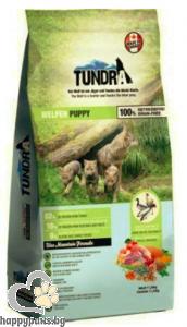 Tundra - Puppy Grain Free суха храна за кученца до 1 година с пуйка,патица, пиле и сьомга, 11.34 кг.