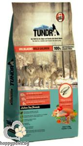 Tundra - Wild Salmon Grain Free суха храна за израснали кучета над 1 година с дива сьомга, 750 гр.