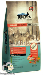 Tundra - Wild Salmon Grain Free суха храна за израснали кучета над 1 година с дива сьомга, 11.34 кг.