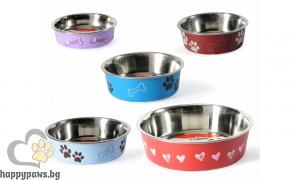 Camon - Bella Bowls - Купа за домашни любимци от високо качествена стомана, 150 мл.
