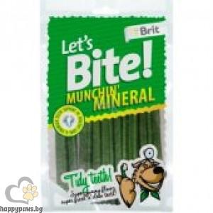 Brit - Munchin Mineral лакомство за кучета, минерали за здрави зъби, 105 гр.