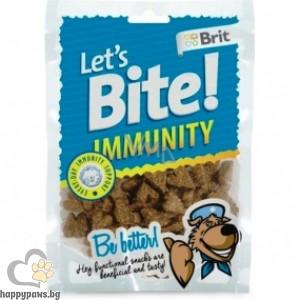 Brit - Let's bite Immunity лакомство за кучета за силен имунитет, 150 гр.