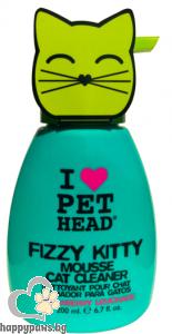 I Love Pet Head - Fizzy Kitty Mousse Пяна за почистване без изплакване за котки с аромат на ягодова лимонада, 190 мл.
