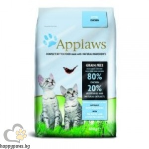 Applaws - Cat Kitten суха храна за малки котета до 12 месеца, с пилешко месо, без глутен, 7.5 кг.