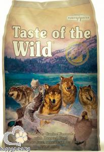 Taste Of The Wild - Wetlands Canine Grain Free суха храна за израснали кучета над 1 година с патица, 13 кг.