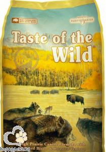 Taste Of The Wild - High Prairie Canine Grain Free суха храна за израснали кучета над 1 година с еленско и бизонско месо, 13 кг.