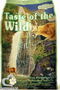 Taste Of The Wild - Rocky Mountain Feline Grain Free суха храна за израснали котки над 1 година с еленско месо и пушена сьомга, 7 кг.