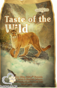 Taste Of The Wild - Canyon River Feline Grain Free суха храна за израснали котки над 1 година с пастърва и пушена сьомга, 7 кг.