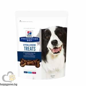 Hills - Prescription Diet Hypoallergenic Treats Canine лакомство за кучета над 12 месеца, при хранителни алергии, 220 гр.
