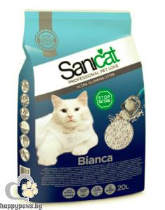 SaniCat Bianca - Бентонит котешка тоалетна, 20 л.