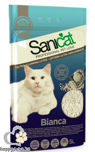SaniCat Bianca - Бентонит котешка тоалетна, 5 л.