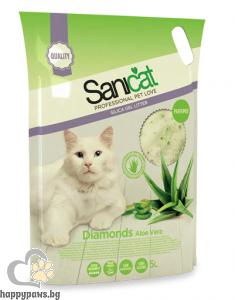 SaniCat - Diamonds Aloe Vera - силиконова котешка тоалетна с аромат на алое вера, 5 л.