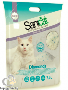 SaniCat - Diamonds Natural - силиконова котешка тоалетна, 7.5 л.