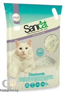 SaniCat - Diamonds Natural - силиконова котешка тоалетна, 5 л.