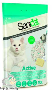SaniCat - Active антибактериална бентонитова котешка тоалетна с активен кислород, 10 л.