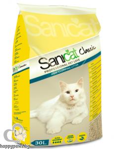SaniCat - Classic икономична и удобна котешка тоалетна за отлична хигиена и висока надеждност, 30 л.