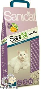 SaniCat - Superplus високоефективна котешка тоалетна с двоен аромат на лавандула и портокал, 20 л.
