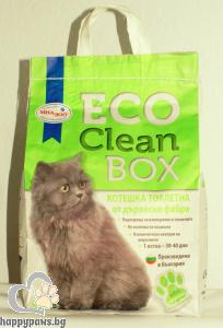 CleanBox - Eco биоразградима котешка тоалетна от дървесни фибри, 3 кг.