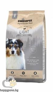 Chicopee - Classic Nature Light суха храна за кучета с наднормено тегло с агне и ориз, 15 кг.