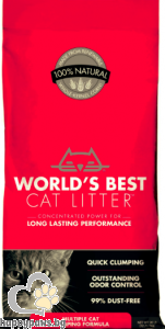 World's Best - Cat Litter Multiple cat - котешка тоалетна, 3.18 кг.