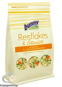 Bunny - Rice flakes & vegetables Първа помощ при хранително-стомашни проблеми за гризачи, 80 гр.