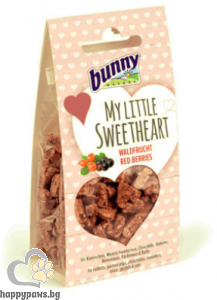 Bunny - My Little Sweetheart Red Berries лакомство бисквити с горски плодове за гризачи, 30 гр.