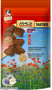 Mac's - Dog Tasties steaks лакомство за кучета с говеждо месо, 60 гр.