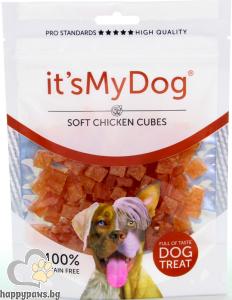 It's My Dog - Chicken Soft Cubes Grain Free лакомство за куче меки кубчета пилешко, 85 гр.