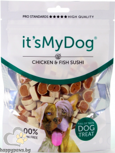 It's My Dog - Sushi Chicken & Fish Grain Free лакомство за куче суши пиле и риба, 85 гр.