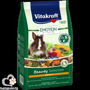 Vitakraft - Emotion Beauty Selection Adult храна за възрастни декоративни мини зайчета, 600 гр.