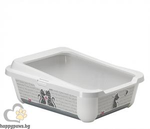Moderna - Съд за котешка тоалетна с борд 50 см, серия Влюбени котки