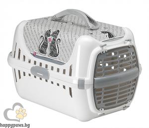 Moderna - Транспортна чанта Trendy с пластмасова вратичка, серия Влюбени котки