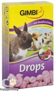 Gimbi - Drops бонбони за гризачи, различни вкусове, 100 гр.