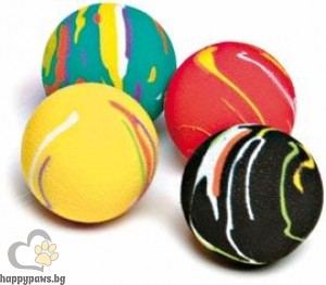 Gimborn - Играчки за котки цветни топки, 4 бр.