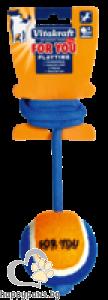 Vitakraft - Кучешки играчки тенис топка на въже, 50 см.