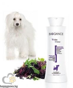 Biogance - White snow Шампоан за бяла козина на кучета, 250 мл.