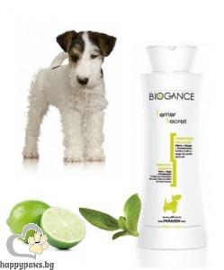 Biogance - Terrier secret Шампоан за дълбоко почистване на козината на кучета, 250 мл.