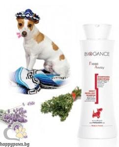 Biogance - Fleas Away Противопаразитен шампоан за кучета, 250 мл.