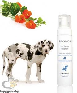 Biogance - No Rinse Foamer пяна за почистване на козината на кучета и котки без отмиване, 200 мл.