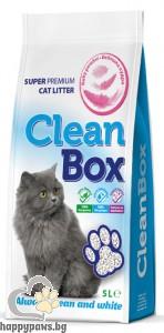 CleanBox - котешка тоалетна от бял бентонит с аромат на бебешка пудра, 5 л.