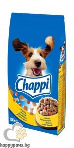 Промоция 2+1 ГРАТИС Chappi - Суха храна за израснали кучета над 1 година, различни вкусове 10кг.
