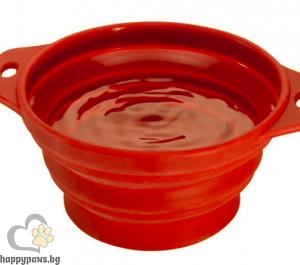 Ferplast - Travel Bowl сгъваема купичка за храна и вода за пътуване, 1 л.