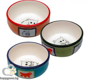 Ferplast - Hamster bowl керамична купичка за малки животни, различни цветове 10.2 х 3.7 см - 180 мл.