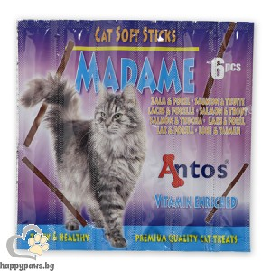 MADAME - деликатесно лакомство за котета, с вкус сьомга и пъстърва 6бр. , 30гр.