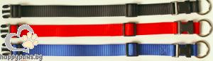 Миазоо - Нашийник от изкуствена лента спорт+ различни цветове, 10 мм х 20-35 см.