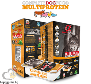 Alpha Spirit - Multi Protein полусуха храна за израснали кучета над 1 година с 85% прясно месо, 9.45 кг. 45x210 гр.