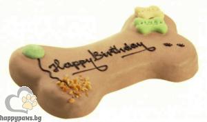 "Lolo - Торта за куче за рожден ден ""Happy Birthday"" с вкус на шоколад и ядки, 250 гр."