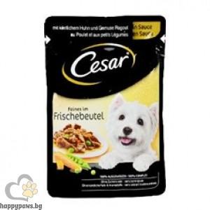 Cesar - Pouch adult пауч за кучета в зряла възраст, различни вкусове, 100 гр.